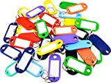 Ardisle 25 Key Tags ASSORTED COLOURS ID Name Card Label Split Ring Identifiers Fob