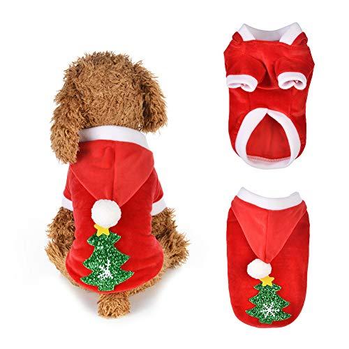 (CricTeQleap Mode Hund Kapuzenjacke Mantel Cute Christmas Tree Herbst Winter warme Haustier Kleidung XL)