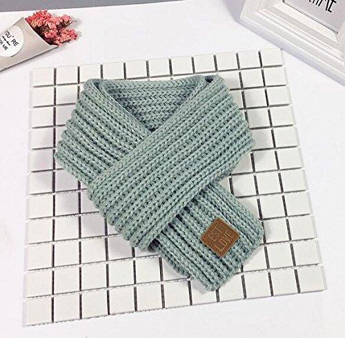 en Jungen Schal Knit Wolle Herbst und Winter Schals Kids Warm Schal aqua blue (Aqua-party Supplies)