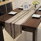 Kitzen Quasten Tischläufer Tischset Esstisch Kissen Silber und Grau parallele Linien Einfache Geometrie Tischdecke , 32*250cm