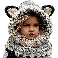Pershoo Inverno a maglia di lana Berretti Fox Cappelli neonate