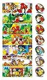 Ukrainisches-Kunsthandwerk, Ostereier Schrumpffolie. Volksmärchen. Motive für Kinder. Nr.15 reicht für 7 Eier