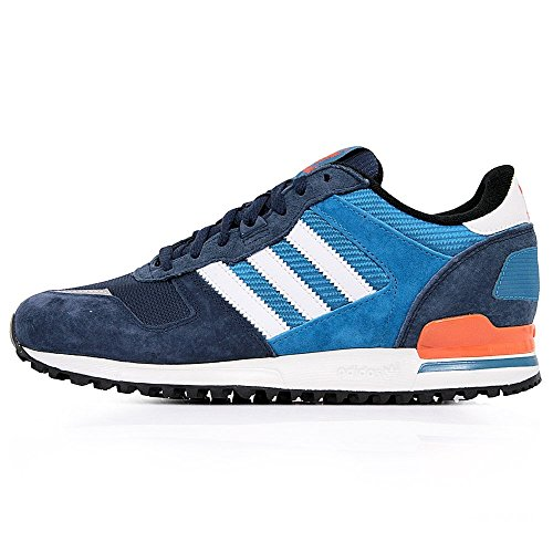 adidas ZX 700 Unisex-Erwachsene Sneakers Blau (St Dark Slate F13 / Running White Ftw / Collegiate Orange)