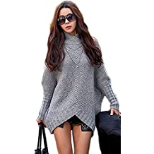 Mikos Damen Poncho Strick Pullover Jacke Cardigan Fledermausärmel Japan  Style SM Schwarz Grau ... b7999cfe23