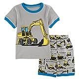 Mombebe Kinder Junge Flugzeug Schlafanzug Pyjama Set (Bagger 2, 5 Jahre)