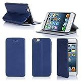 Etui luxe iPhone 6S Plus 5.5 Ultra Slim bleu Cuir Style avec stand - Housse coque de...