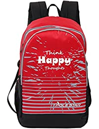 Pole Star Amaze 30 Liters Red & Grey Casual Backpack