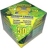 Acquista 50 Candele da Giardino alla Citronella