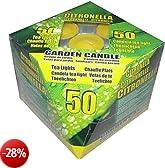 50 Candele da Giardino alla Citronella