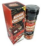 AUAAUA® Habanero Chilisalz Gewürzmühle mit Meersalz und frischen Chilis