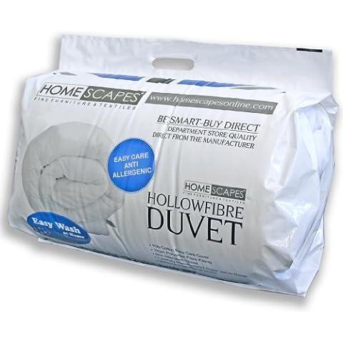 Homescaes Edredón nórdico Confort en fibra hueca siliconada para cama de 105 con una densidad de