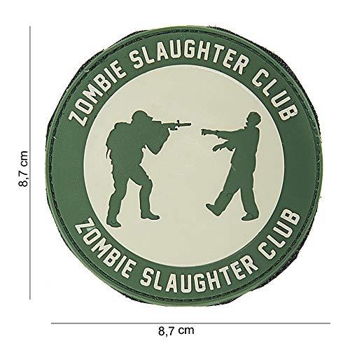 Tactical Attack Zombie Slaughter Softair Sniper PVC Patch Logo Klett inkl gegenseite zum aufnähen Paintball Airsoft Abzeichen Fun Outdoor Freizeit (Zombie-klett-patch)