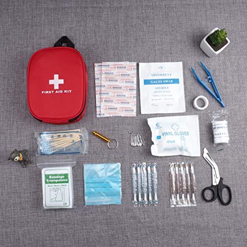 CHANNIKO-DE 15PCS/Set Portable Size Emergency Survival Bag Outdoor Camping Travel Car First Aid Bag First Aid Medical Bag Survival Kit Set Car-travel-kit
