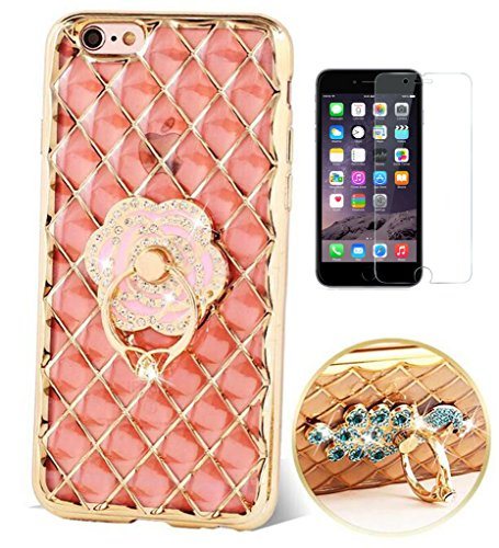 apple-iphone-6-plus-6s-plus-hulle-mit-panzerglasultra-slim-3d-bling-glitzer-silikon-transparent-soft