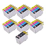 26 PerfectPrint kompatible Ersatz-Druckerpatronen T1281, T1282, T1283, T1284 (T1285), für Epson-Drucker Stylus S22, SX125, SX130, SX420W, SX425W, SX445W, BX305F, BX305FW, SX230, SX235W, SX445W, SX435W, SX430W, SX438W, SX440W