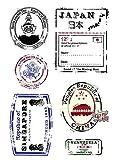 Tic-Tac Tampon en Caoutchouc Transparent Vintage Timbre Passeport 16x11cm