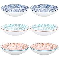 Nicola Spring Patterned Porcelain Pasta Bowls - 3 Designs - Set of 6