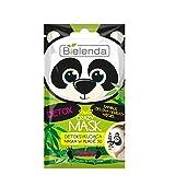 Bielenda Crazy Mask panda Detoxyfying 3D foglio maschera con bambù e tè verde