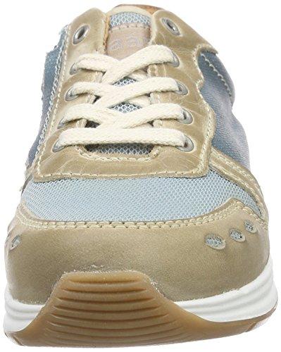 Bisgaard Shoe with Laces, Baskets Basses Mixte Enfant Bleu (09 Glitter-petrol)