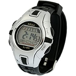 Black Gray Plastic Adjustable Wristband Digital Sports Watch for Children