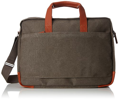 BREE Collection Unisex-Erwachsene Punch Casual 67, Cognac, Briefcase Schultertasche, Grau (Grey), 13x30x40 cm
