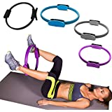 Flyngo 1Pcs Yoga Pilates Workouts Resistance Ring for Tone & Strengthen Your Entire Core and Body - Gym Yoga Fitness Accessories