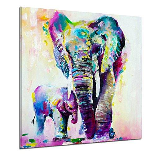 Arte abstracto Elefantes Impreso Lienzo Decoración Arte de la pared para la...