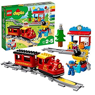 LEGO Duplo Town Tren de Vapor (10874) + Mis Primeros Coches (10886), Pack de vehículos de Juguete, Set de Construcción