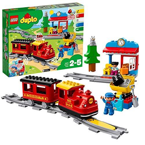LEGO DUPLO Trains - Tren de Vapor, Juguete Educativo de Aprendizaje de Codificación con Muñecos y Locomotora para Niños y Niñas de 2 a 5 Años, Complementable con APP (10874)