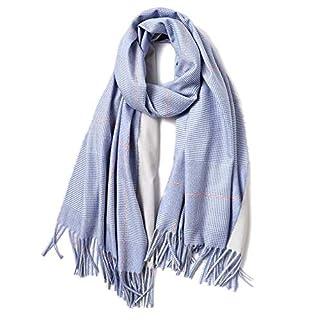 XXSZKAA-accessory Schal Woman/Plaid Gestreiften Imitation Kaschmirschal Damen/Europäischen Und Amerikanischen Wind Autumn/Winter Warmen Schal, Blau