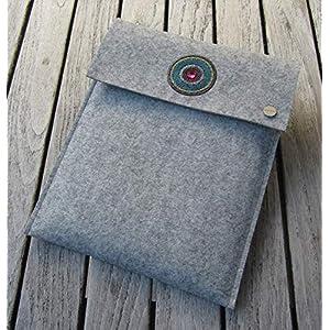 zigbaxx Tablet Hülle IBIZA Case Sleeve Filz u.a. für iPad 9.7, iPad Pro 9,7/10,5/11 Zoll (2018), iPad mini 2/3/4, iPad Air, 100% Wollfilz pink schwarz beige grau braun – Geschenk Weihnachten