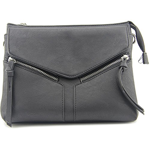 Violet Ray Leanna Envelope Crossbody Donna Ecopelle Black