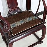 EFRC Muebles antiguos caoba Silla sofá cojín cojines amortiguador de esponja gruesa,9