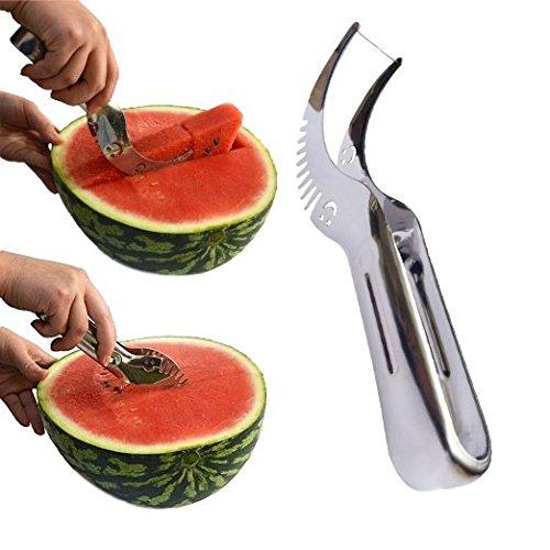 Wassermelone Schneide, kenor Wassermelone Messer & Fruit Schneide schnellste Cutter Mehrzweck-Edelstahl, Smart Kitchen Gadget & perfekte Geschenk