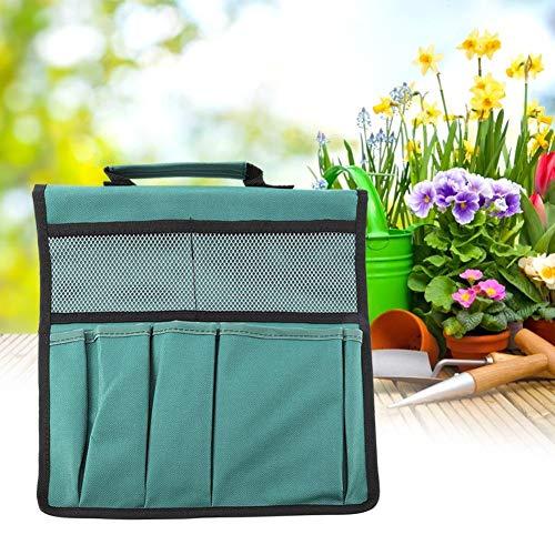 Organisator Lagerung Tasche (TOPINCN Gartenwerkzeug Beutel Faltbar Tragbar Garten Kneeler Bank Werkzeug kniend Tasche Lagerung Organisator MEHRWEG VERPACKUNG(Green))