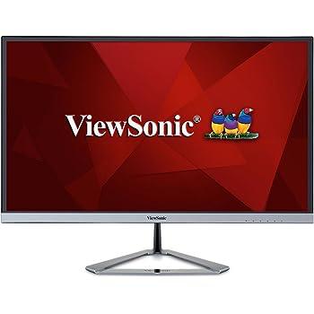 ViewSonic VX2476-SMHD 24-inch Full HD Frameless IPS monitor (Ultra slim bezel VGA HDMI DisplayPort Speakers) - Silver