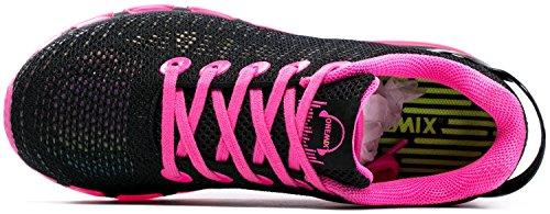 ONEMIX Air Scarpe Da Ginnastica Donna Basse Corsa Sportive Fitness Casual Sneakers Nero/Roso