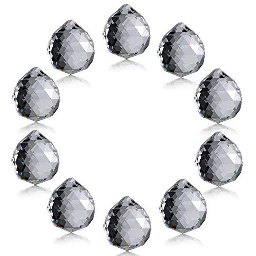 Neewer® 1,75 Zoll / 40mm Klarer Kristall Ball Prisma Anhänger Sonnenfänger für Feng Shui / Wahrsagung oder Hochzeit / Zuhause / Buero-Dekoration (10pcs) -