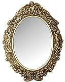 My Flair 109017 Ovaler Spiegel Mogallal, Barock mit Putten, Holz, antik-gold, 40 x 5 x 53 cm