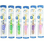 Aquafresh Milk Teeth Toothbrush for Kids, Soft, 0-2 Years, Pack of 6