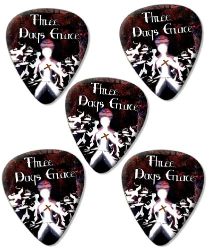 three-days-grace-premium-chitarra-picks-plettri-x-5
