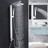 Badezimmer Dusche Wasserhahn Wand Bad Dusche Armaturen Set Wasserfall Wand Dusche Mischbatterie Set Badewannenarmaturen Regendusche Köpfe