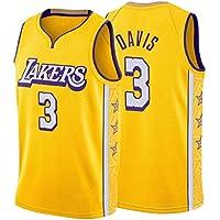 Camiseta de Baloncesto Davis # 3 Lakers Chaleco Deportivo de Entrenamiento Retro Bordado para Hombres jóvenes, Camiseta Superior de Uniforme de competición S-XXL-L