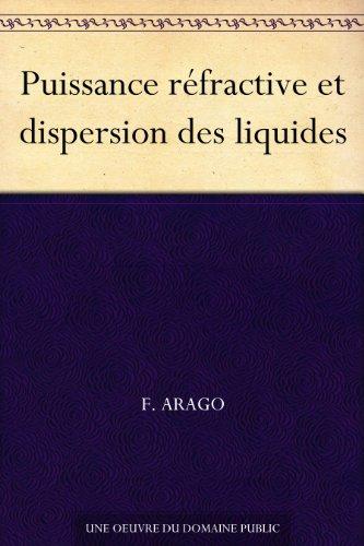 Couverture du livre Puissance réfractive et dispersion des liquides