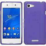 PhoneNatic Case für Sony Xperia E3 Hülle Silikon lila, X-Style + 2 Schutzfolien