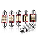 Audew 31mm Festoon Car Interior LED Dome Light Bulb 6 Pack Boot Light Bar/Kit Bulb For Car/Van/Sedan/Truck 31 * 12mm