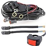 Harnais de faisceau de câblage pour la barre de lumière de LED Kit de relais de commutateur de fil de lumière de voiture