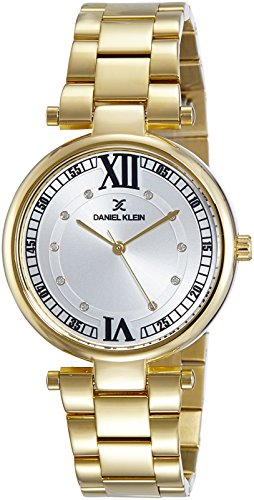 Daniel Klein Analog Gold Dial Women's Watch-DK10914-1 image