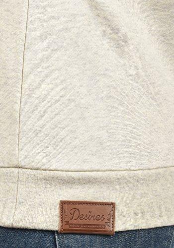 DESIRES Vicky Zipper Damen Sweatjacke Zip-Jacke mit Fleece-Innenseite und Stehkragen aus hochwertiger Baumwollmischung Meliert Oyster Grey (8215)