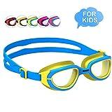 OMID Occhialini da Nuoto Bambini, Anti-Appannamento Specchio Occhiali da Nuoto Agonistico Protezione UV Impermeabile Anti-Perdita Confortevole Regolare Professionaleper